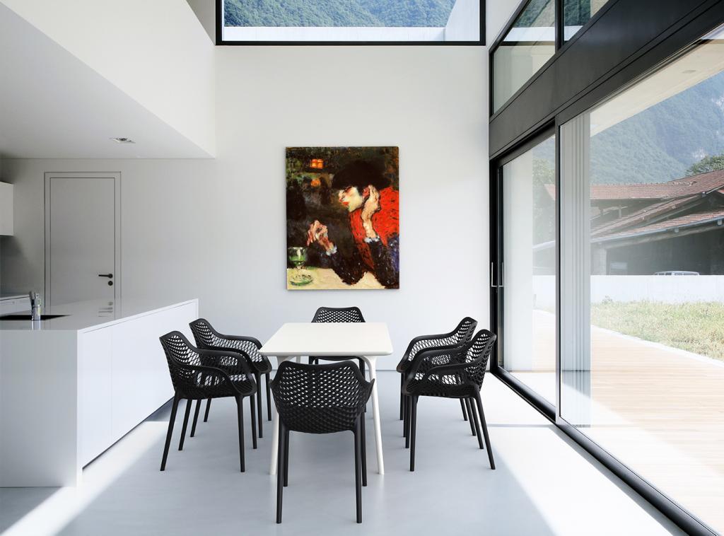 Cabin living gartenstuhl air xl grau designwohnen